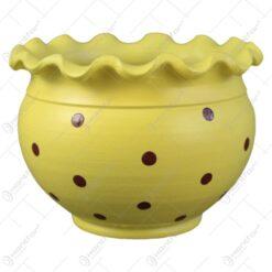 Ghiveci din ceramica cu buline 12x8 CM