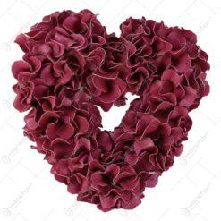 Corana foam inima din flori 35 CM
