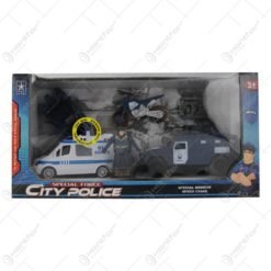 Set City Police cu masinute si motocileta