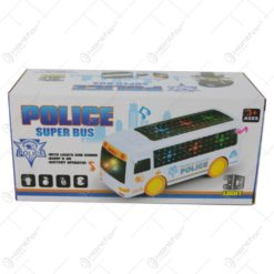 Autobuz Police cu lumini 3 D si sunete