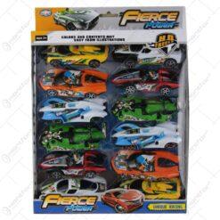 Set 12 masini de curse din plastic