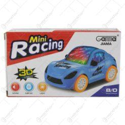 Masina de curse cu lumini 3D si sunete Mini Racing