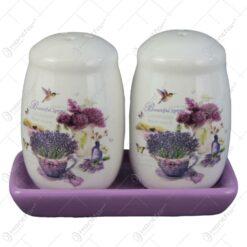 Set solnita si pipernita din ceramica Lavanda Jardin 11x9 CM