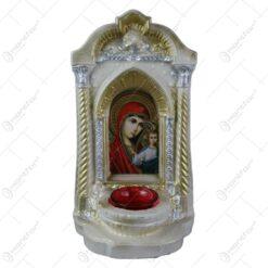 Candela din ipsos Isus/Sfanta Maria cu pruncul 17x30 CM