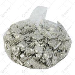 Pietre decorative din sticla Argint 2 CM  - 500 gr