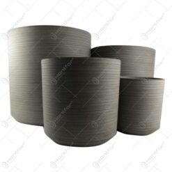 Set 4 ghivece din plastic 21-43 CM Nisipiu