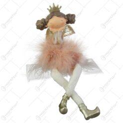 Figurina Ingeras balerina din rasina si pene 23 CM