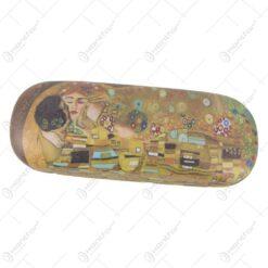 "Toc pentru ochelari ""Sarutul"" de Gustav Klimt 16x6 CM"