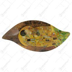 Tava din sticla Gustav Klimt Sarutul 25x12 CM