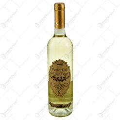 Vin alb 0.75l cu eticheta personalizata din pluta - Pentru cel mai bun prieten