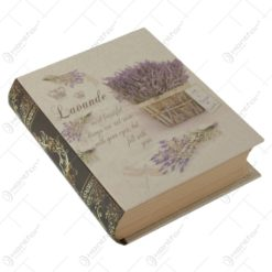 Cutie tip carte cu flori vintage 14x17 CM - Lavanda/Trandafiri - Se vinde 3 buc/pach.