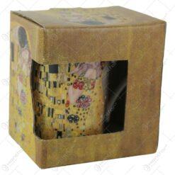 "Gustav Klimt ""Sarutul"" colectia limitata Queen Isabell - Gri"
