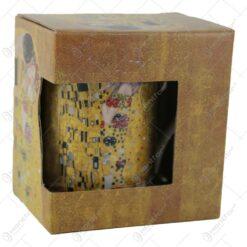 "Gustav Klimt ""Sarutul"" colectia limitata Queen Isabell - Aur"