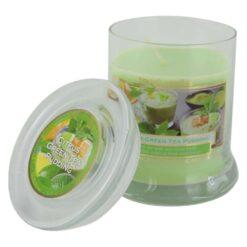 Lumanare parfumata in borcan de sticla Green Tea Pudding
