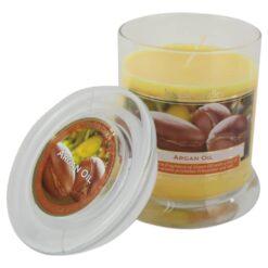 Lumanare parfumata in borcan de sticla Cotton/Argan Oil
