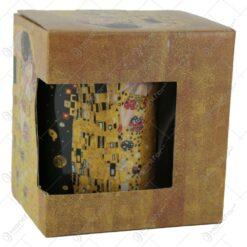 "Gustav Klimt ""Sarutul"" colectia limitata Queen Isabell - Negru"