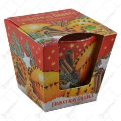 Lumanare parfumata in pahar de Craciun - Christmas Orange