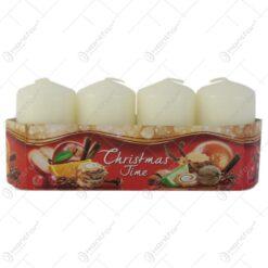 Set 4 lumanari parfumate Christmas Time 7 CM