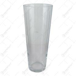 Vaza conica Flora din sticla 10x26 CM