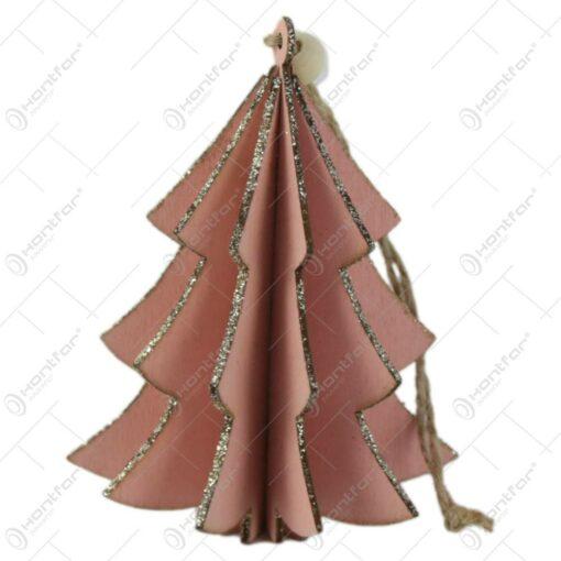 Ornament pentru bradul de craciun din lemn 10 CM