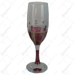 Set 6 pahare sampanie din sticla vopsita