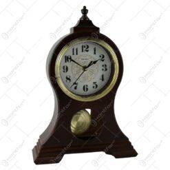 Ceas de masa cu pendula din plastic 26x34 CM Maro/Crem