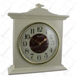 Ceas de masa din plastic 30x34 CM Maro/Crem