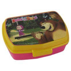 Cutie sandwich din plastic Masha si Ursul 17 CM
