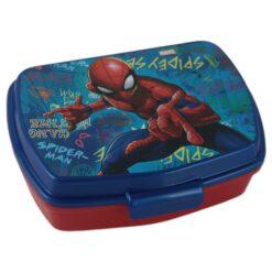 Cutie sandwich din plastic Spiderman 17 CM
