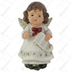 Figurina ingeras cu instrument muzical 7 CM Crem