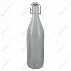 Sticla pentru bauturi cu dop de cauciuc 1 L