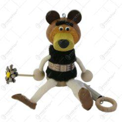 Figurina bungee jumping - Urs cu floare 15 CM