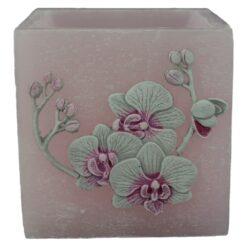 Lumanare tip lampion Orchid Velvet 11x11 CM