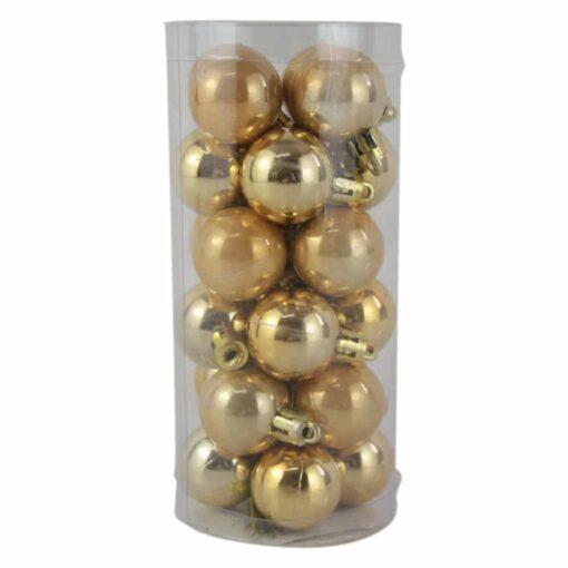 Set 24 globuri din plastic Auriu