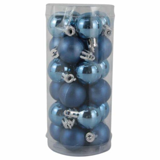 Set 24 globuri din plastic Albastru