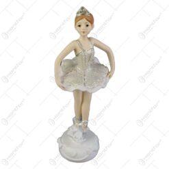 Figurina Balerina din rasina cu glitter 17 CM