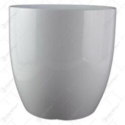 Ghiveci din ceramica Basel Full Alb 30x32 CM