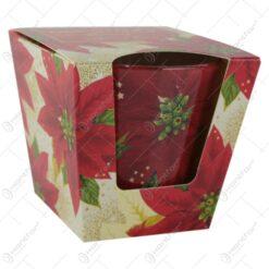 Lumanare parfumata de Craciun in pahar Christmas Flowers