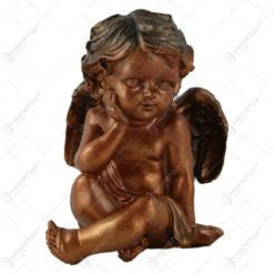 Statueta inger ganditor din rasina Bronz 16 CM