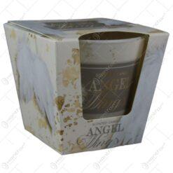 Lumanare parfumata in pahar de Craciun - Angel wings