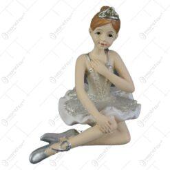 Figurina Balerina din rasina cu glitter 7 CM