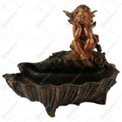 Statueta inger cu scoica din rasina Bronz 17 CM