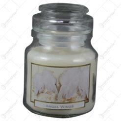 Lumanare parfumata in borcan de Craciun - Angel Wings