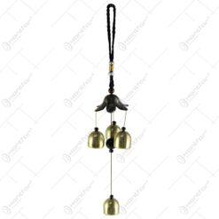 Clopotel de vant din metal cu floare 34 CM