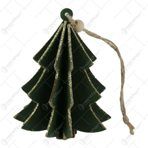 Ornament pentru pomul de craciun din lemn 10 CM