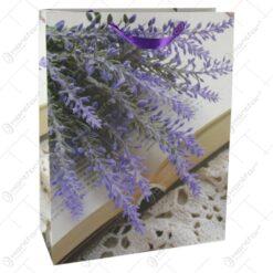 Punga cadou din hartie 31x40 CM - Lavanda