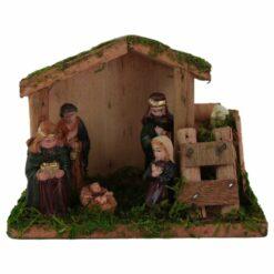 Ornament de Craciun Sceneta Betleem din lemn 15 CM