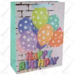 Punga cadou din hartie 31x40 CM - Baloane Happy Birthday