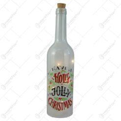Sticla decor cu leduri pentru Craciun