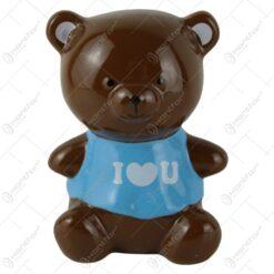Pusculita Ursulet din ceramica I love you 15 CM
